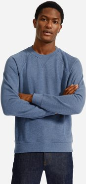 Lightweight French Terry Crew Sweater by Everlane in Heather Blue, Size XL