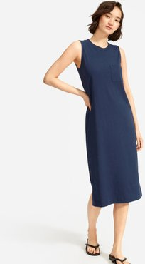 Long Weekend Tee Dress by Everlane in Navy, Size XL