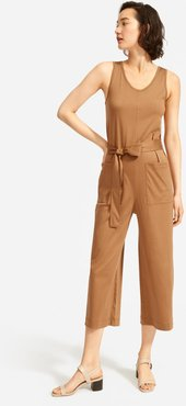 Luxe Cotton Jumpsuit by Everlane in Toasted Coconut, Size XL