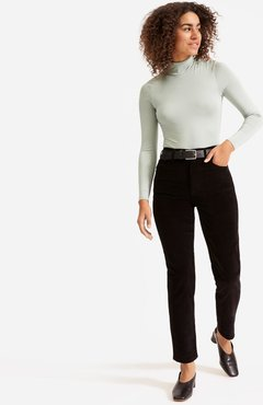 Cheeky Straight Corduroy Pant by Everlane in Black, Size 24