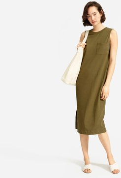 Long Weekend Tee Dress by Everlane in Fatigue, Size XL