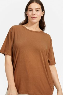 Air Oversized Crew T-Shirt by Everlane in Toasted Coconut, Size M