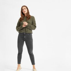 Mid-Rise Skinny Jean by Everlane in Washed Black, Size 24