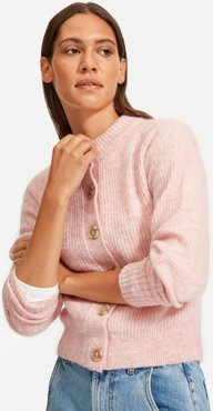 Cropped Alpaca Cardigan by Everlane in Rose, Size XL