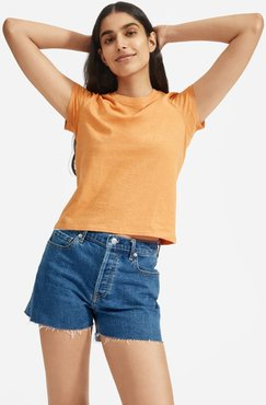 ReCotton T-Shirt by Everlane in Apricot, Size XXS
