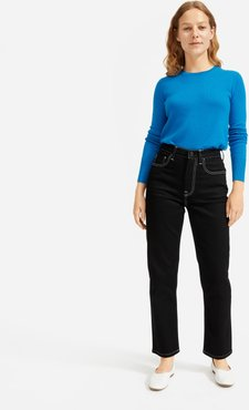 Cashmere Crew Sweater by Everlane in Cerulean, Size XS