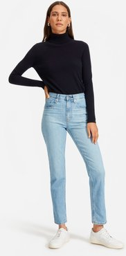 Cheeky Straight Jean by Everlane in Sky Blue, Size 35