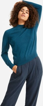 Cashmere Raglan Mockneck Sweater by Everlane in Heathered Indigo, Size S