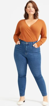 Authentic Stretch High-Rise Skinny by Everlane in Mid Blue, Size 34
