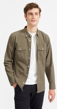 Modern Flannel Shirt by Everlane in Heathered Thyme, Size XS