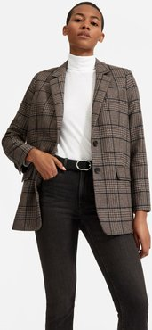 Oversized Blazer by Everlane in Chocolate Houndstooth / Windowpane, Size 16