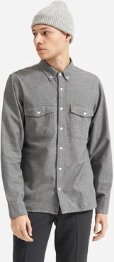 Modern Flannel Shirt by Everlane in Heather Grey, Size M