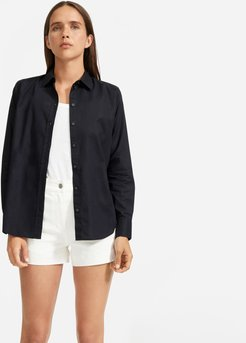 Silky Cotton Relaxed Shirt by Everlane in Black, Size 00