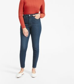 Authentic Stretch High-Rise Skinny by Everlane in Dark Blue Wash, Size 23