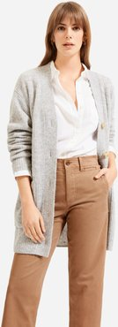 Oversized Alpaca Cardigan by Everlane in Heather Grey, Size XL