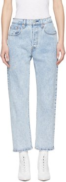 Blue 501 Cropped Jeans