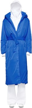 Blue Long Puffer Coat