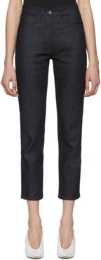 Indigo Straight Cropped Jeans