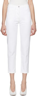 White Straight Cropped Jeans