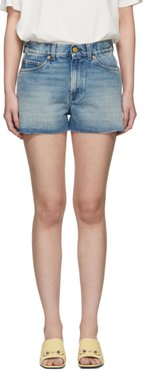 Blue Denim Strawberry Shorts