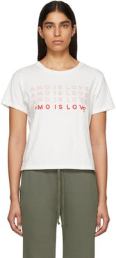 White Amo Is Love Classic T-Shirt