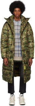 Khaki Brumal Edition Camo Down Long Anorak Puffer Coat
