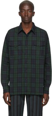 Green and Blue Flannel Check Shirt