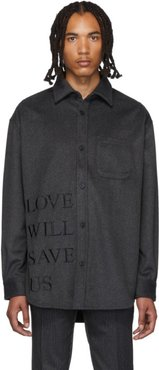 Grey Love Will Save Us Painter Shirt
