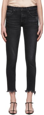 Black Staley Tapered Jeans