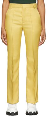 Yellow Straight Trousers
