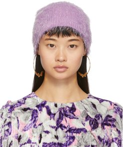 Purple Furry Beanie