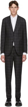 Grey Wool Check Milano Easy Suit