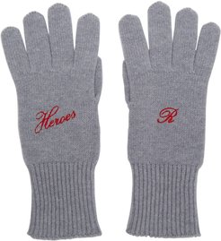 Grey Cashmere Heroes Gloves