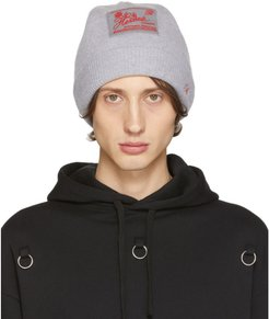 Grey Virgin Wool and Cashmere Heroes Beanie