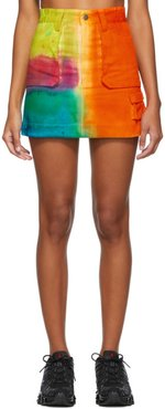 SSENSE Exclusive Multicolor Hand-Dyed Miniskirt