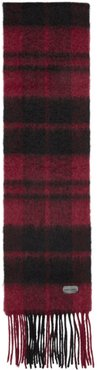 Red and Black Plaid Small Scarf
