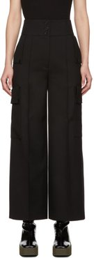 Black Large Pockets Trousers