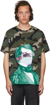 Green Undercover Edition V Face UFO Print T-Shirt
