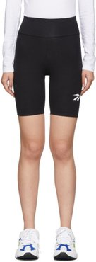 Black Vector Logo Bike Shorts