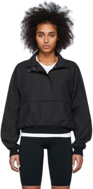 Black Half-Zip Sail Jacket