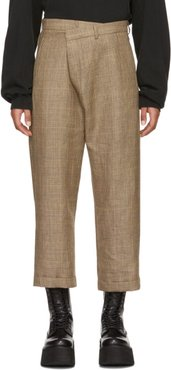 Brown Check Crossover Trousers