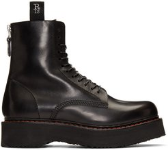 Black Single Stack Boots