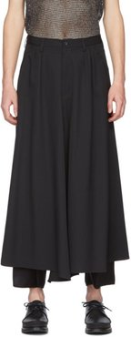Black Wool Skirt Trousers