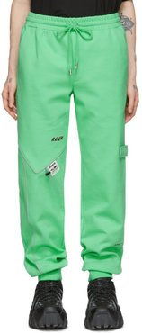 Green Piping Incision Lounge Pants