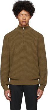 Brown Pro Half-Zip Sweater