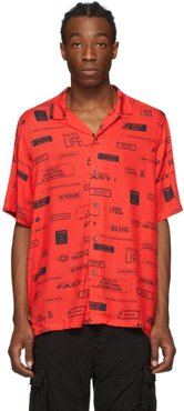 Red You Have Been Warned Resort Short Sleeve Shirt