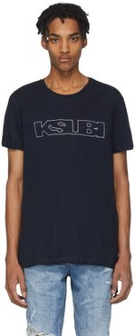 Navy Sign Of The Times Unleaded T-Shirt