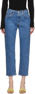 Blue 501 Original Cropped Jeans