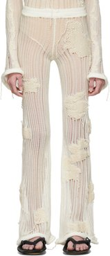 Off-White Flower-Knit Lounge Pants