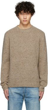 Brown Pilled Melange Sweater